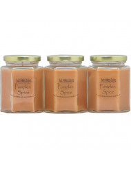 3 Pack - Pumpkin Spice Scented Blended Soy Candle | Great Smelling Fall Fragrance | Hand Poured in The USA by Just Makes Scents