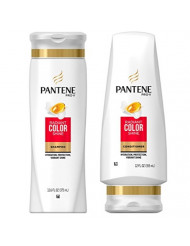 Pantene Pro-V Radiant Color Shine Shampoo (12.6 oz) and Conditioner (12 oz) Set (Packaging May Vary)