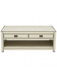 Pulaski Trunk Style Cocktail Table in Cream