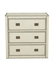 Pulaski Wrapped Trunk Style Drawer Chest in Ivory