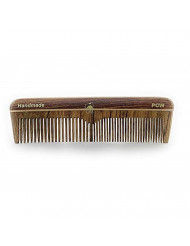 """GBS Natural Wood Handmade Pocket Beard and Hair Comb - Comb 5"""" Coarse/Fine Teeth. Easy Styling & Grooming Combo for All Hair Types"""