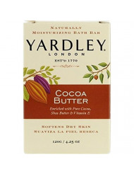 Yardley London Pure Cocoa Butter & Vitamin E Bar Soap, 4.25 Ounces /120 G (Pack of 8)