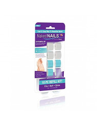 Naked Nails Refills Replacement Parts Buffers, Files & Shines (Pack of 3)