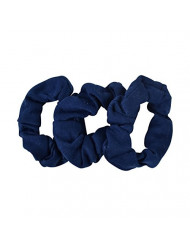 Small Scrunchies Cotton Hair Bobble - Set of 3 - Navy