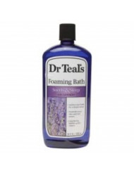 Dr. Teal's Foaming Bath Soothe and Sleep with Lavender 34 Ounces 6-Pack