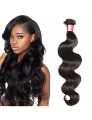 YIROO Brazilian Body Wave 1 Bundle 9A Grade 100% Unprocessed Virgin Human Hair Weft Extensions 95-100g/PC Natural Color(20inch, One Bundle)