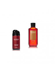 Bath & Body Works - Bourbon - Deodorizing Body Spray and 2 in 1 Hair and Body Wash - Gift Set