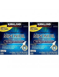 Kirkland evJxsF Minoxidil 5 percent Extra Strength Hair Regrowth for Men, 12 Months