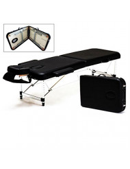 Portable 2 Fold Aluminum Massage Table Salon SPA Bed Facial Tattoo w/Carry Case