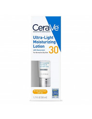 CeraVe Face Moisturizer with SPF 30   1.7 Ounce   Light-Weight Face Lotion with Hyaluronic Acid   Fragrance Free