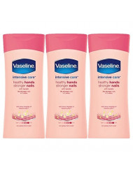 Vaseline Healthy Hand and Stronger Nails Hand Cream, 6.76 Ounce (200 Millilitres) Pack of 3, Imported from UK