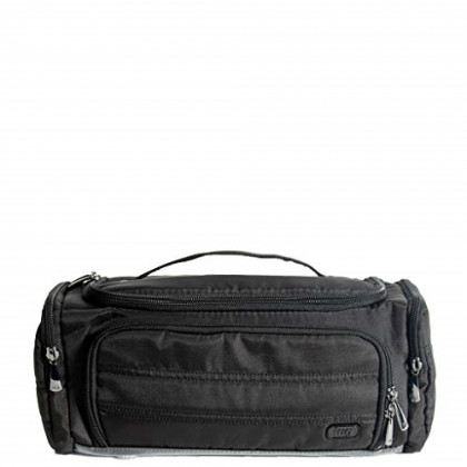Lug Women's Trolley Toiletry Bag, Compact Travel Case, BRUSHED BLACK