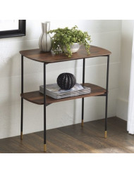 Better Homes and Gardens Montclair 2 Shelf Accent Table, Vintage Walnut Finish