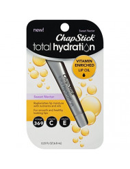 ChapStick Total Hydration Vitamin Enriched Lip Oil (Sweet Nectar Flavor, 0.23 Ounce) Non Tinted, Vitamin C, Vitamin E, Contains Omega 3 6 9 (1 Tube)