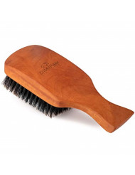 ZilberHaar Major - Hair & Beard Brush - Natural Boar Bristles and Pear Wood - All Beard and Hair Types - Best for Medium to Thick, Long Beards - A Must-Have Grooming Tool for Men who Like it Big