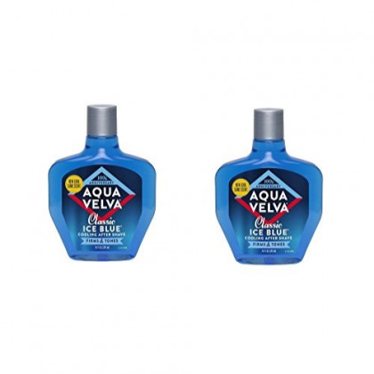 Aqua Velva After Shave, Classic Ice Blue Scent - 7 Fluid Ounce (Pack of 2)