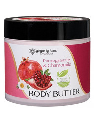 Ginger Lily Farms Botanicals Body Butter Pomegranate & Chamomile, Hydrates, Softens and Heals Skin, 15.5 Ounces