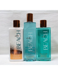 Bath & Body Works ~ Signature Collection ~ At The Beach ~ Shower Gel ~ Fine Fragrance Mist & Body Lotion ~ Trio Gift Set