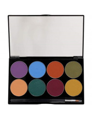 Mehron Makeup Paradise AQ Face & Body Paint 8 Color Palette (Nuance)