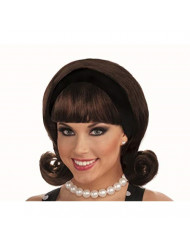 Forum Novelties Women's Flirting with The 50's Costume Wig, Brown, One Size
