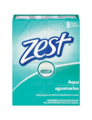 Zest 8-Bar Bath Size Soap, Aqua, 4 Ounce