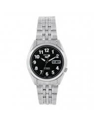 Sieko Men's SNK381K Stainless Steel Analog with Black Dial Watch
