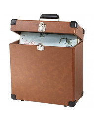 Crosley CR401-TA Record Carrier Case for 30+ Albums, Tan