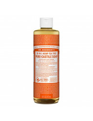 Dr. Bronner's - Pure-Castile Liquid Soap (Tea Tree, 16 ounce) - Made with Organic Oils, 18-in-1 Uses: Acne-Prone Skin, Dandruff, Laundry, Pets and Dishes, Concentrated, Vegan, Non-GMO