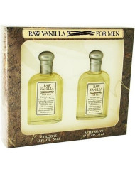 Raw Vanilla By Coty For Men. Gift Set ( Cologne Splash 1.7 Oz + Aftershave 1.7 Oz).
