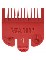 """Wahl Professional Color Coded Comb Attachment #3144-603 - Red #1 - 1/8"""" (3mm) - Great for Professional Stylists and Barbers"""