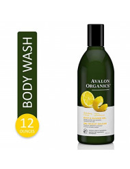 Avalon Organics Refreshing Lemon Bath & Shower Gel, 12 oz.