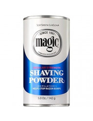 Magic Shaving Powder, Regular Strength, 5-Ounce Cans (Pack of 12)