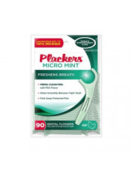 Plackers Micro Mint Dental Flossers, 90 Count (Pack of 6)