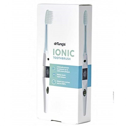 Dr. Tung's Ionic Toothbrush System with Replacement Head for Cleaner Whiter Teeth, Makes Teeth Repel Plaque! bringing healthy smiles naturally. Silent, Small and Ready-to-use IONIC Toothbrush