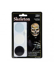 Mehron Makeup Tri-Color Halloween Makeup Palette (Skeleton)