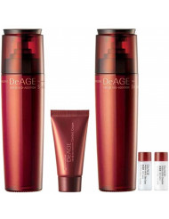 [Charmzone] De Age Red Addition 2 KIND SET - Skin Toner and Emulsion Free Travel Kit ( Skin Toner 7ml and Emulsion 7ml)}