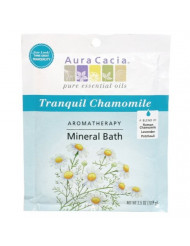 Aura Cacia Aromatherapy Mineral Bath, Tranquil Chamomile, 2.5 ounce packet (Pack of 3)