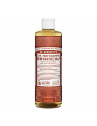 Dr. Bronner's - Pure-Castile Liquid Soap (Eucalyptus, 16 ounce) - Made with Organic Oils, 18-in-1 Uses: Face, Body, Hair, Laundry, Pets and Dishes, Concentrated, Vegan, Non-GMO