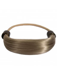 Mia Tonytail Ponytail Wrap Made Of Synthetic Wig Hair On An Elastic Rubber Band, Classic and Effortless, Blonde Color, PATENTED, 1 pc