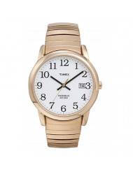 Timex Men's T2H301 Easy Reader 35mm Gold-Tone Stainless Steel Expansion Band Watch