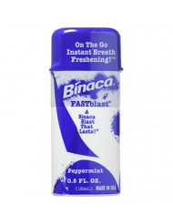 Binaca Fastblast Breath Spray Peppermint 0.5 Oz (Pack of 12)