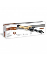 "Andis 1"" Gold Ceramic Curling Iron Model No. 37580"
