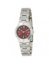 Casio General Ladies Watches Metal Fashion Ltp-1241D-4A2Df - Ww, Red Dial