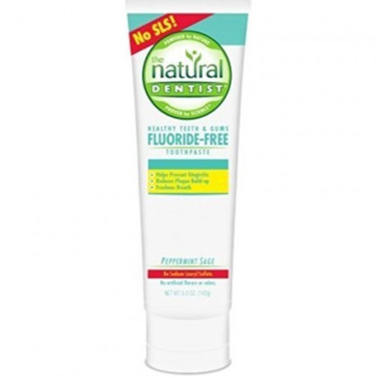 The Natural Dentist Healthy Teeth & Gums Fluoride-Free Antigingivitis Toothpaste Peppermint Sage 5 oz (Pack of 6)