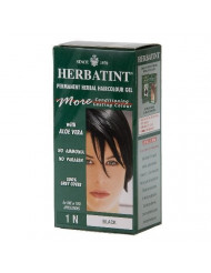 Herbatint 1N Permanent Herbal Black Haircolor Gel Kit - 3 per case.