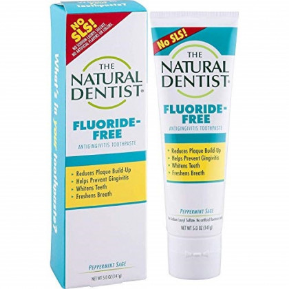 The Natural Dentist Healthy Teeth & Gums Fluoride-Free Antigingivitis Toothpaste Peppermint Sage 5 oz (Pack of 4)