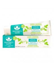 Nature's Gate Natural Toothpaste, Creme de Peppermint, Fluoride Free, Vitamin C; Vegan, Non GMO, Carageenan Free, Gluten Free, Soy Free, Paraben Free, Cruelty Free, 6 Ounce Recyclable Tube (Pack of 6)