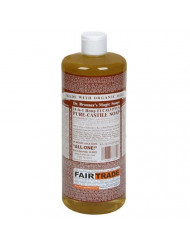 Dr. Bronner's - Pure-Castile Liquid Soap (Eucalyptus, 32 ounce, 2-Pack) - Made with Organic Oils, 18-in-1 Uses: Face, Body, Hair, Laundry, Pets and Dishes, Concentrated, Vegan, Non-GMO