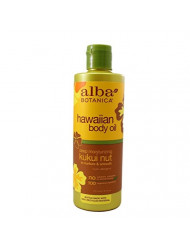 Alba Botanica Hawaiian Body Oil Kukui Nut 8.5 Ounces 2 Pack