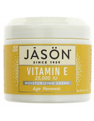 JASON Age Renewal Vitamin E 25,000 IU Moisturizing Creme, 4 Ounce Container (Pack of 2)